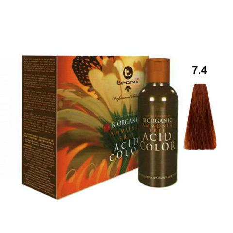 7.4 Mittelblond kupfer Tecna NCC Biorganic acid color 3x130ml