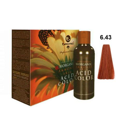 6.43 Dunkel goldblond kupfer Tecna NCC Biorganic acid color 3x130ml