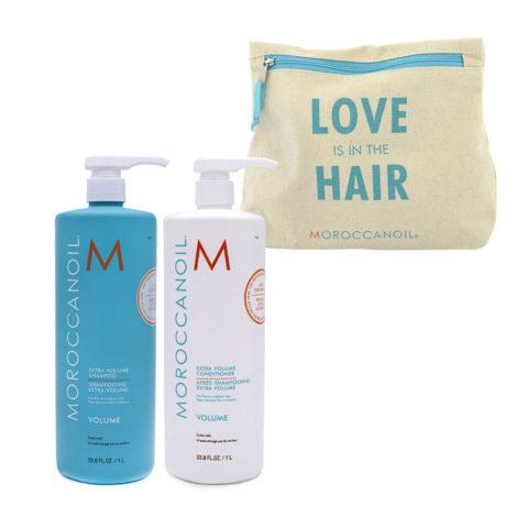 Moroccanoil Kit1 Extra volume shampoo 1000 ml Extra volume conditioner 1000 ml
