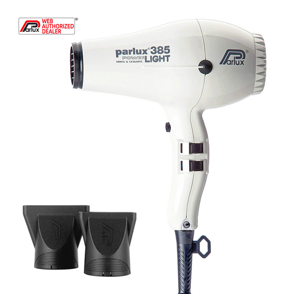 Parlux 385 Powerlight Ionic & Ceramic Weiß - haartrockner