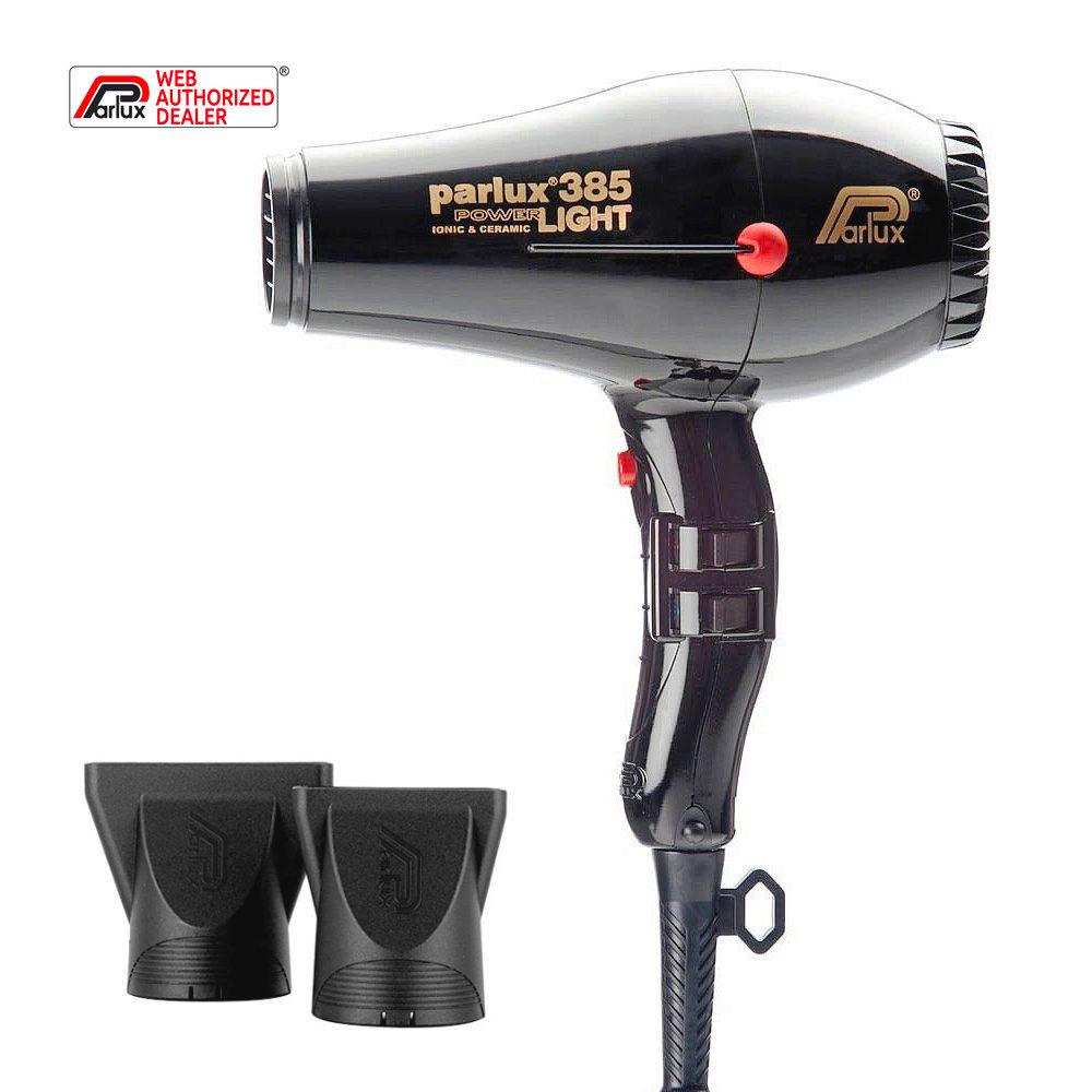 Parlux 385 Powerlight Ionic & Ceramic Schwarz - haartrockner