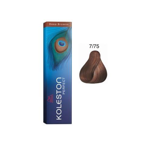 7/75 Mittelblond braun-mahagoni Wella Koleston Perfect 60ml