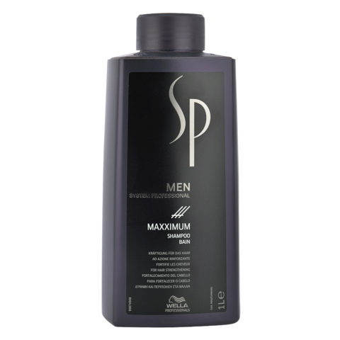 Wella System Professional Men Maxximum Shampoo 1000ml - anti-haarausfall