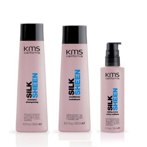 Kms california Kit3 Silksheen Shampoo 300ml Conditioner 250ml Styling creme 150ml