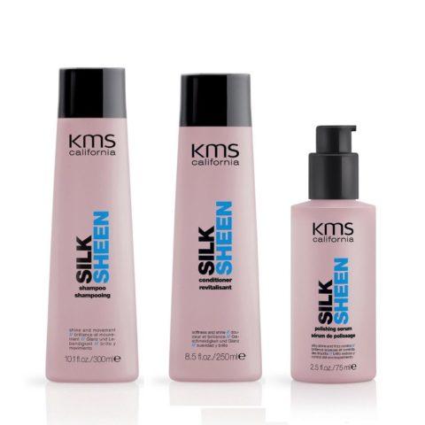 Kms california Kit6 Silksheen Shampoo 300ml Conditioner 250ml Polishing serum 75ml