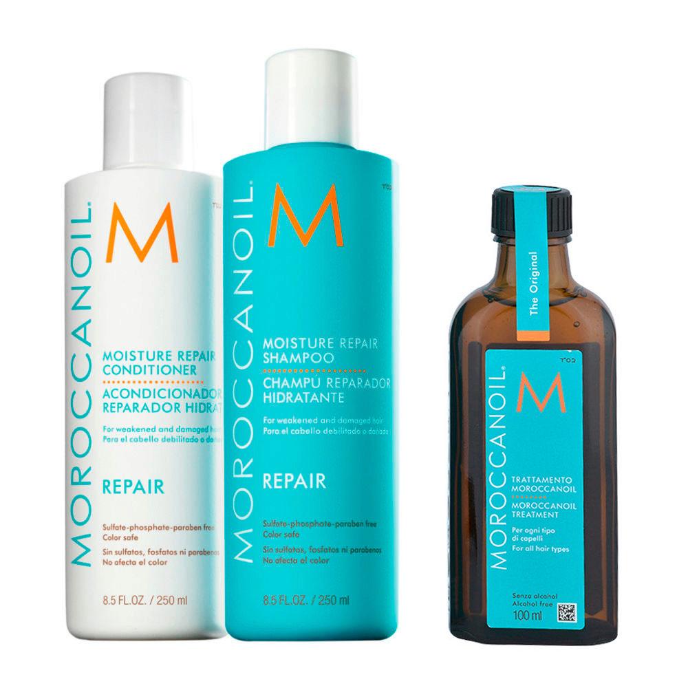 Moroccanoil Kit7 Moisture Repair Shampoo 250ml e conditioner 250ml Oil Treatment 100ml