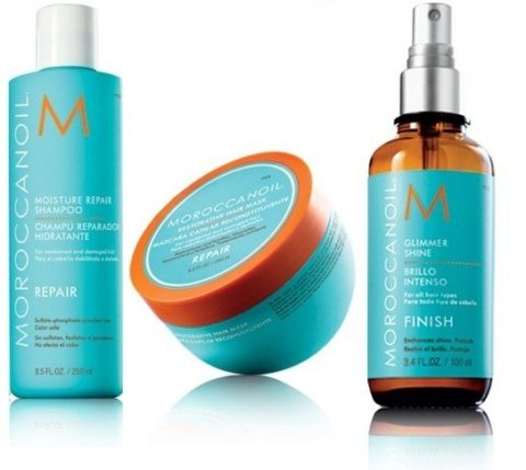 Moroccanoil Kit8 Moisture repair shampoo 250ml Restorative hair mask 250ml Shine spray 100ml