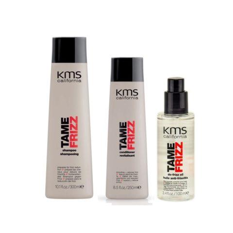 Kms california Kit3 Tame Frizz Shampoo 300ml Conditioner 250ml De Frizz Oil 100ml