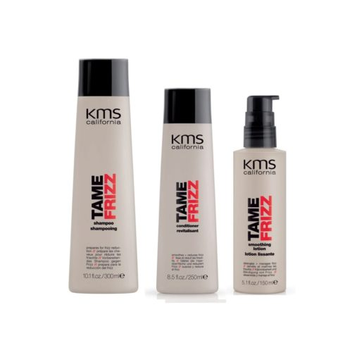 Kms california Kit5 Tame Frizz Shampoo 300ml Conditioner 250ml Smoothing lotion 150ml
