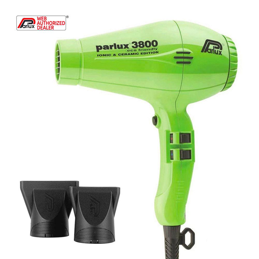 Parlux 3800 Eco Friendly Ionic & Ceramic Verde - haartrockner