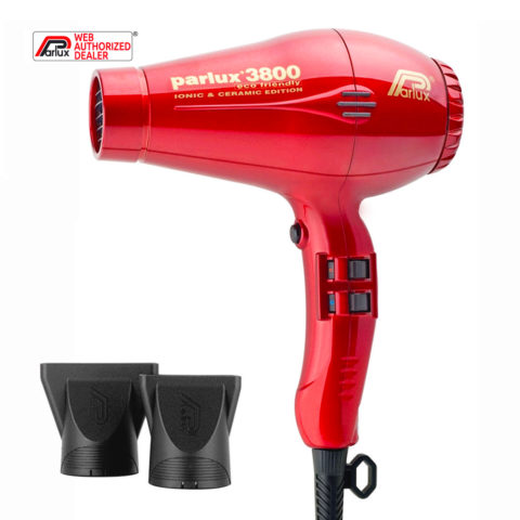 Parlux 3800 Eco Friendly Ionic & Ceramic Rosso - haartrockner