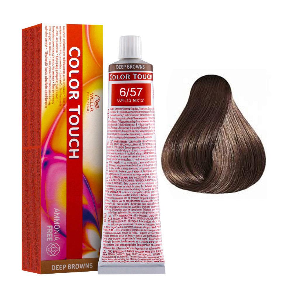 6/57 Dunkelblond mahagoni-braun Wella Color Touch Vibrant Reds ammoniakfrei 60ml