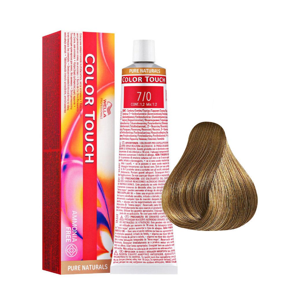 7/0 Mittelblond natur Wella Color Touch Pure Naturals Ammoniakfrei 60ml