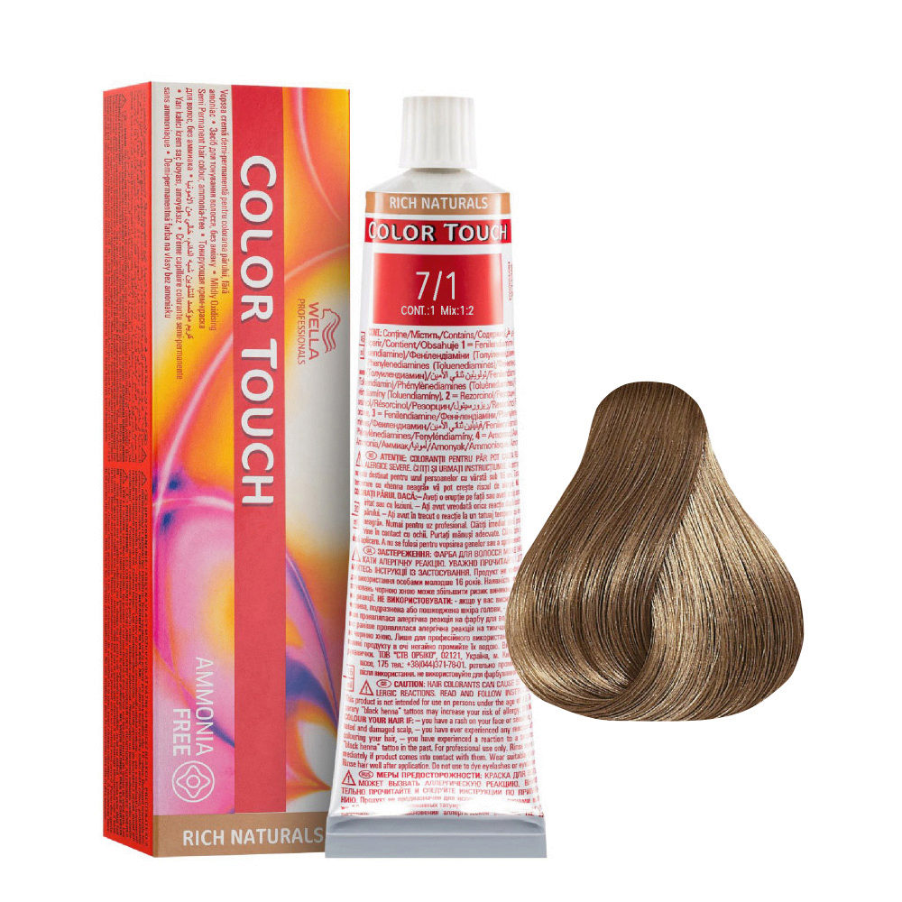7/1 Mittelblond Asch Wella Color Touch Rich Naturals ammoniakfrei 60ml