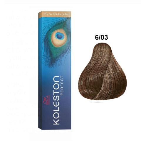 6/03 Biondo Scuro Naturale Dorato Wella Koleston Perfect - Dunkelblond natur gold