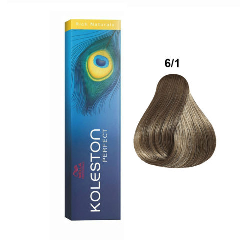6/1 Dunkelblond asch Wella Koleston Perfect Rich Naturals 60ml