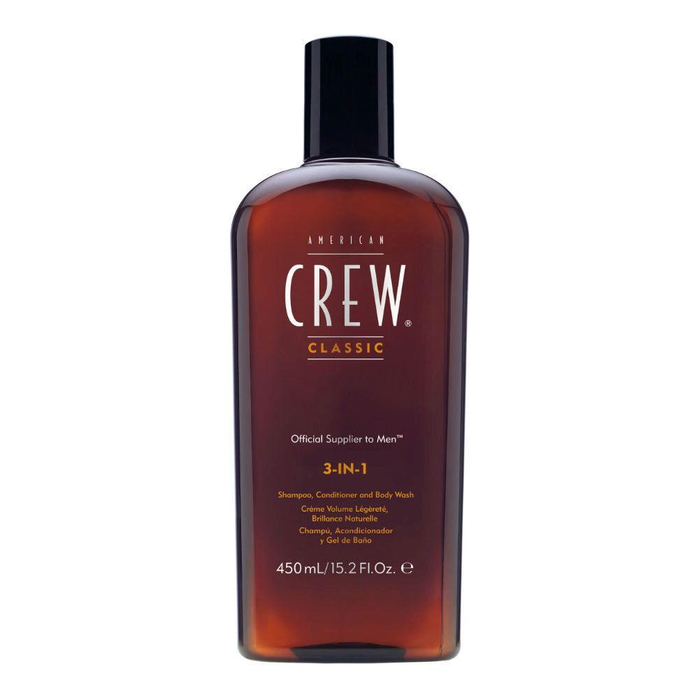 American crew Classic 3 in 1  450ml - Shampoo, Conditioner und Schaumbad