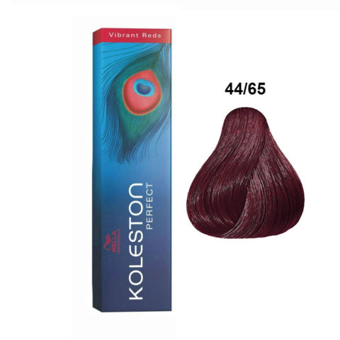 44/65 Mittelbraun intensiv violett-mahagoni Wella Koleston perfect Vibrant reds 60ml