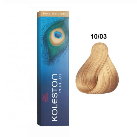 10/03 Hell Lichtblond natur-gold Wella Koleston Perfect Pure naturals