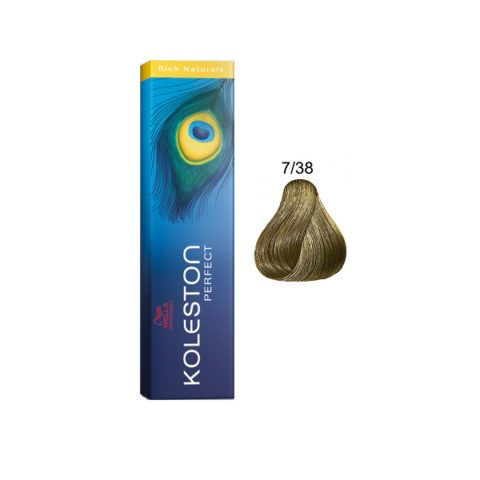 7/38 Mittelblond gold-perl Wella Koleston Perfect Rich Naturals 60ml
