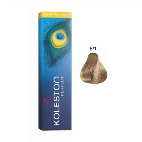 8/1 Hellblond asch Wella Koleston Perfect Rich Naturals 60ml