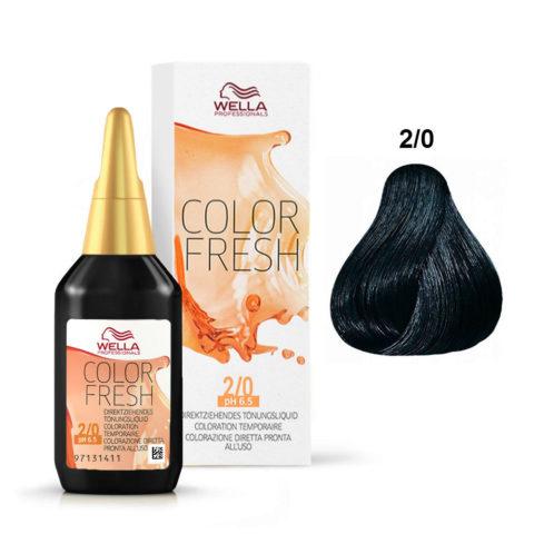 2/0 Schwarz Wella Color fresh 75ml