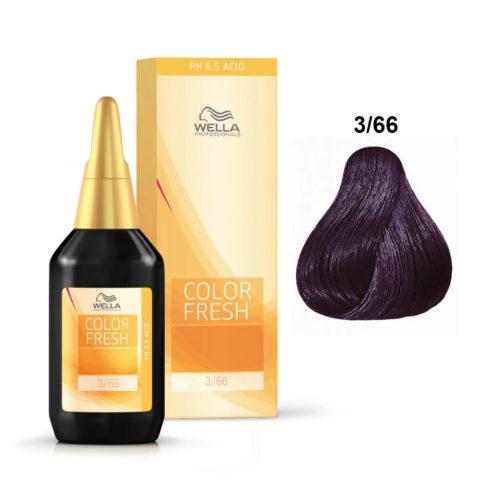 3/66 Dunkelbraun violett-intensiv Wella Color fresh 75ml