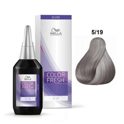 5/19 Hellbraun asch-cendré Wella Color fresh 75ml
