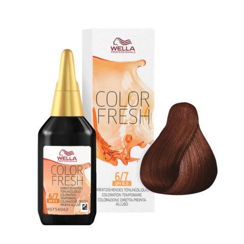 6/7 Dunkelblond-braun Wella Color fresh 75ml