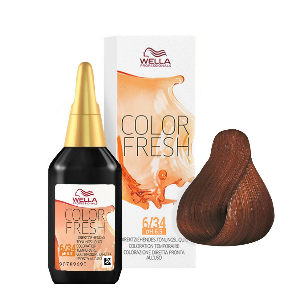 6/34 Dunkelblond gold-rot Wella Color fresh 75ml