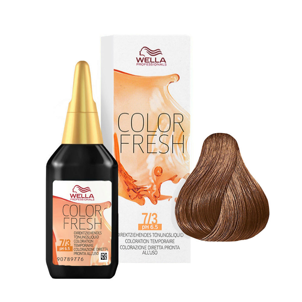 7/3 Mittelblond gold Wella Color fresh 75ml