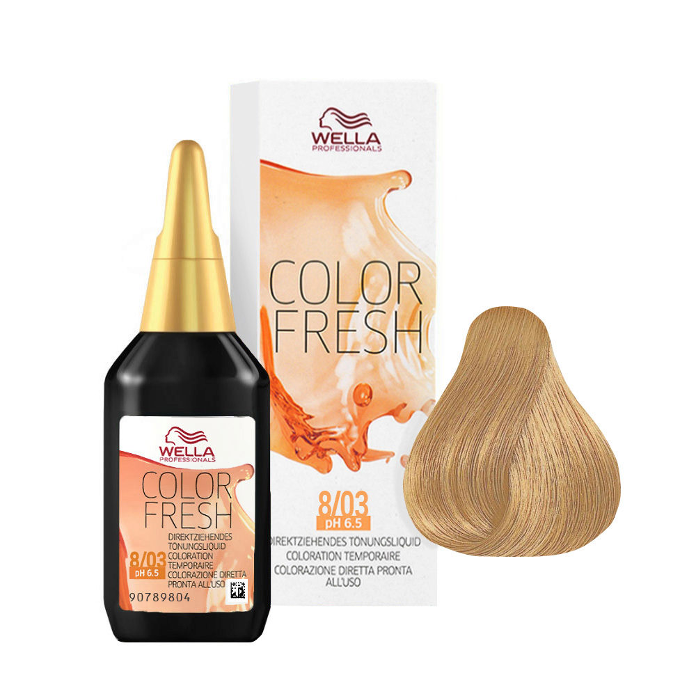 8/03 Hellblond natur-gold Wella Color fresh 75ml