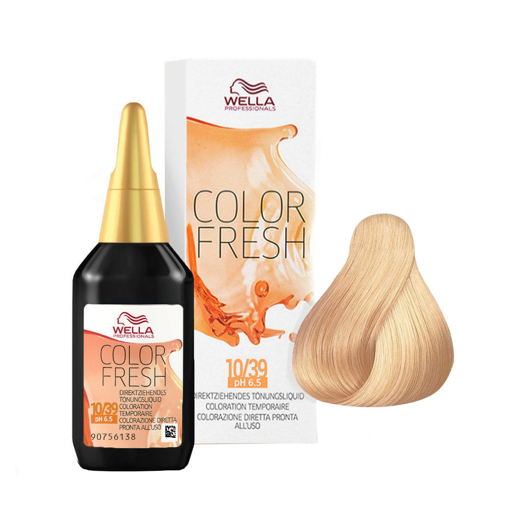 10/39 Hell-lichtblond gold-cendré Wella Color fresh 75ml