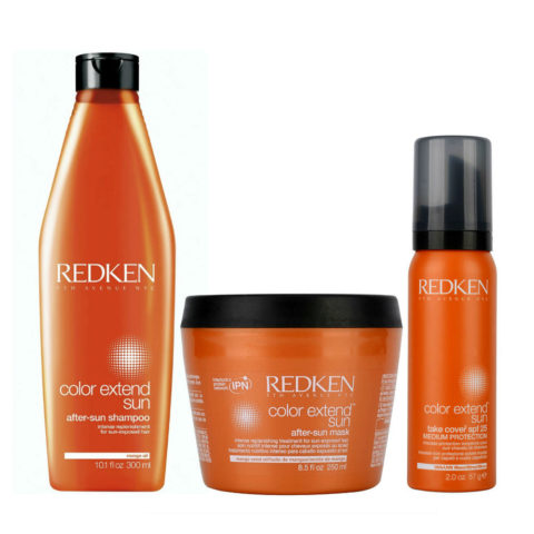 Redken Kit Color Extend Sun Shampoo 300ml   After-Sun Mask 250ml   Take cover spf25 57g