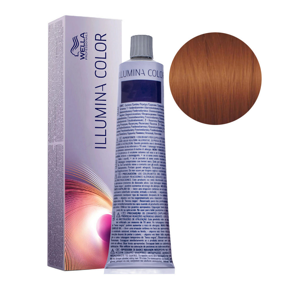7/43 Mittelblond rot-gold Wella Illumina Color 60ml