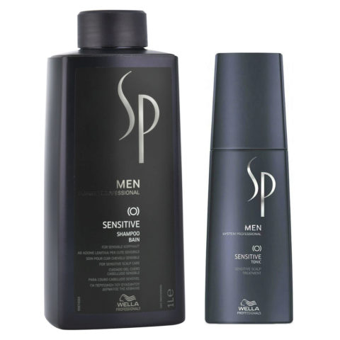 Wella System Professional Men Kit Sensitive Shampoo 1000ml  Sensitive Tonic 125ml