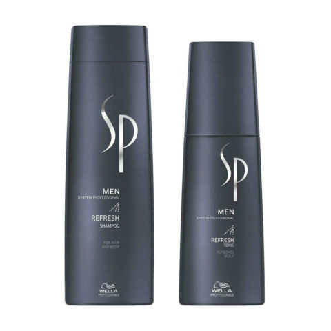 Wella SP Men Kit Refresh Shampoo 250ml  Refresh Tonic 125ml