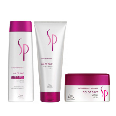 Wella System Professional Kit3 Color Save Shampoo 250ml   Conditioner 200ml   Color Save Mask 200ml