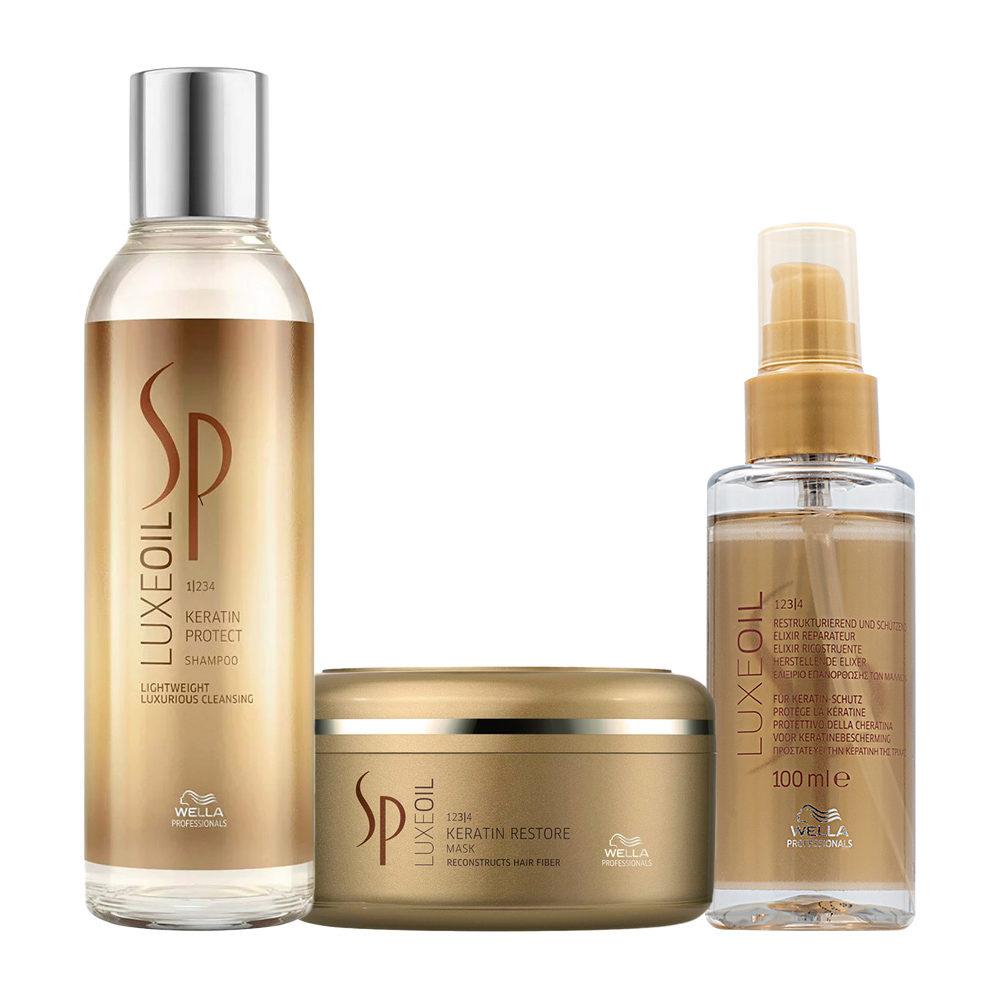 Wella SP Luxe Oil Keratine shampoo 200ml mask 150ml Elixir Luxe Oil 100ml