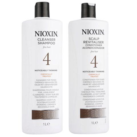 Nioxin Sistema4 Kit Shampoo Cleanser 1000ml e Conditioner 1000ml