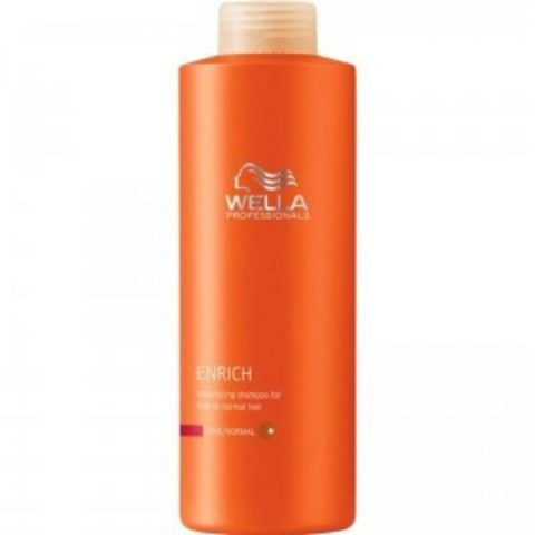 Wella Enrich Volumizing Shampoo 1000ml - fein/normal haar