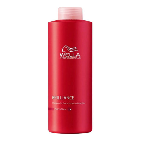 Wella Brilliance Shampoo 1000ml - fein/normal haar