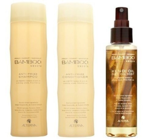 Alterna Bamboo Smooth Kit4 Shampoo 250ml Conditioner 250ml Kendi dry oil mist 125ml