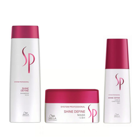 Wella SP Kit Shine Define Shampoo 250 ml   Shine Define Mask 200 ml   Shine Define Leave-In Conditioner 125 ml