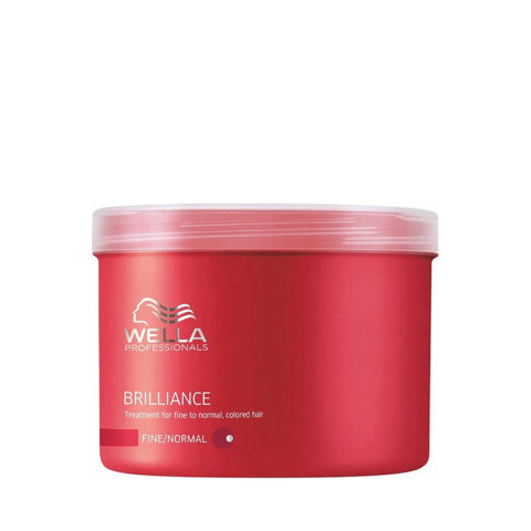 Wella Brilliance Mask 500ml - fein/normal haar maske