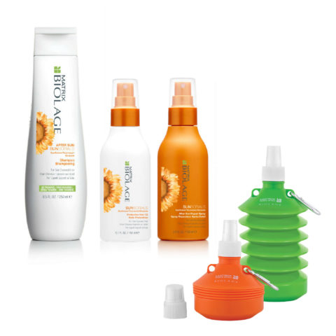 Matrix Biolage Sunsorials Kit Shampoo 250ml Oil 150ml Repair Spray 150ml   Water bottle Geschenk