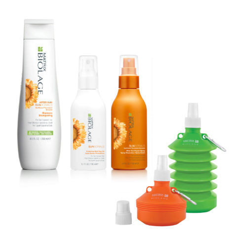 Matrix Biolage Sunsorials Kit Shampoo 250ml Dry-oil 150ml Repair Spray 150ml   Water bottle Geschenk