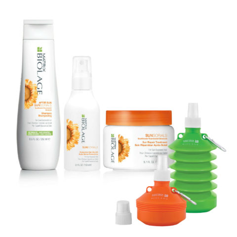 Matrix Biolage Sunsorials Kit Shampoo 250ml Treatment 150ml Dry-oil 150ml   Water bottle Geschenk