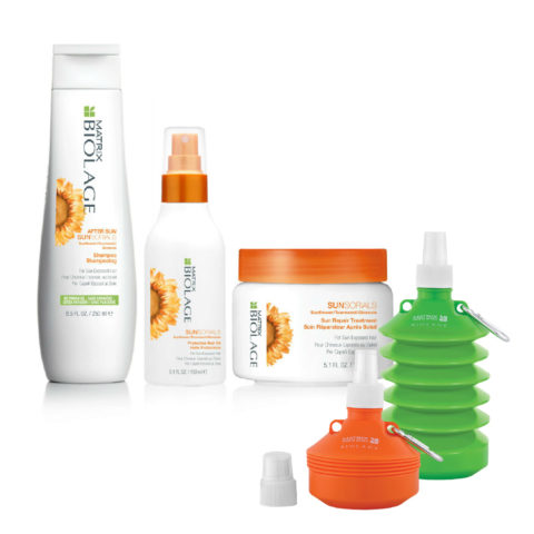 Matrix Biolage Sunsorials Kit Shampoo 250ml Treatment 150ml Oil 150ml   Water bottle Geschenk