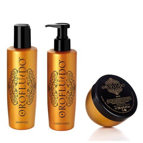 Orofluido Shampoo 200ml Conditioner 200ml  Mask 250ml